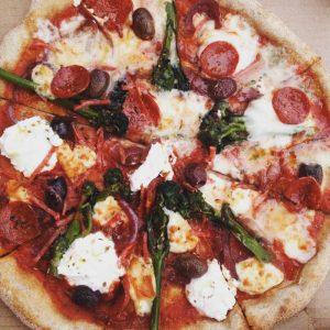 Broccoli and Ricotta pizza
