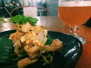 Vegan food and beer at Sentinel