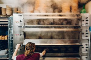 Oven steaming at Forge Bakehouse